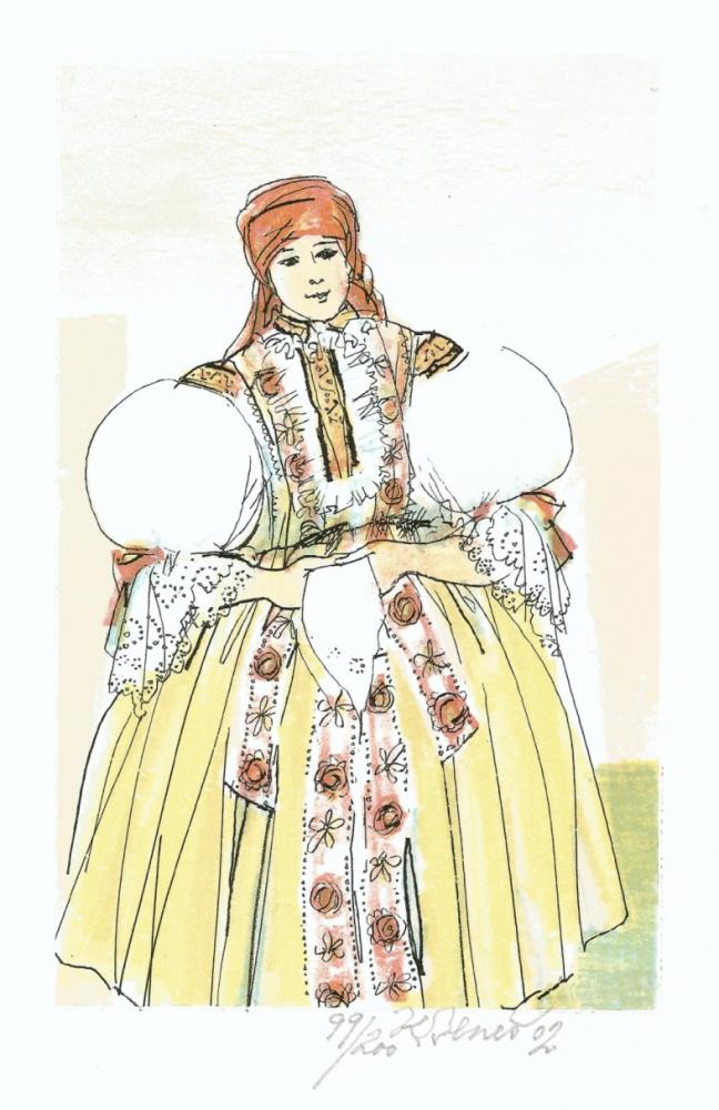 Beneš Karel - Dívka z Mařatic - Grafika