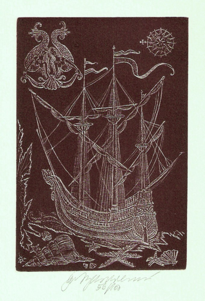Vychodilová Olga - Loď s mořskými pannami - Grafika