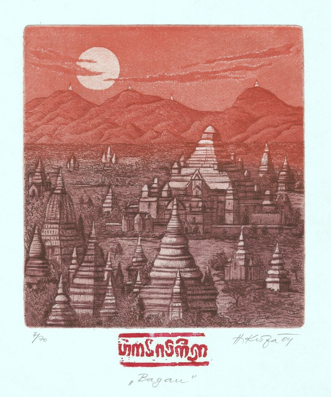 Kisza Herbert - Bagan - Grafika