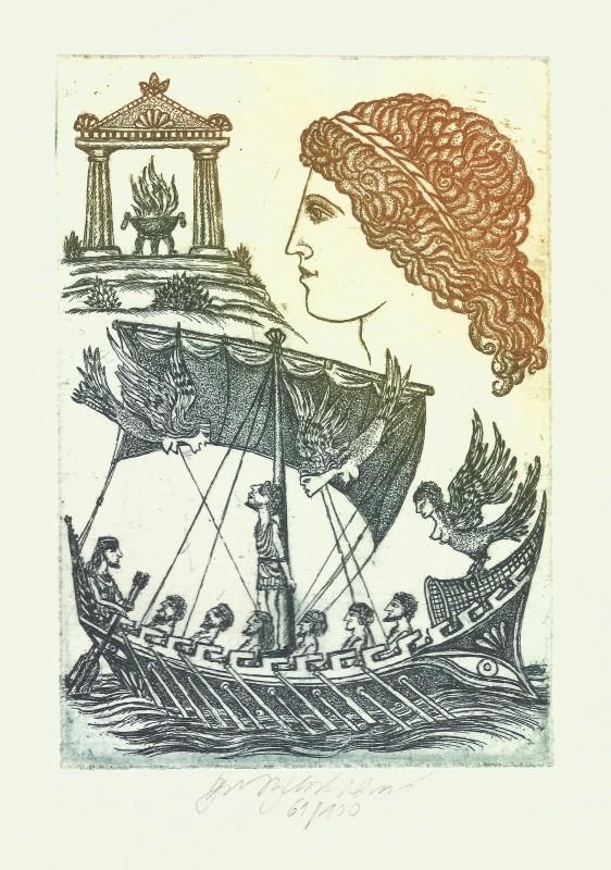 Vychodilová Olga - Odysseus a Sirény - Grafika