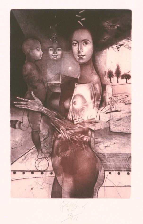 Brázda Jiří - Mother with Child - Print