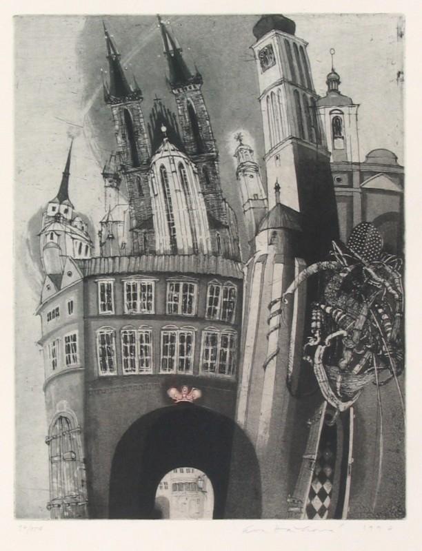 Hašková Eva - Praha - Ungelt - Grafika