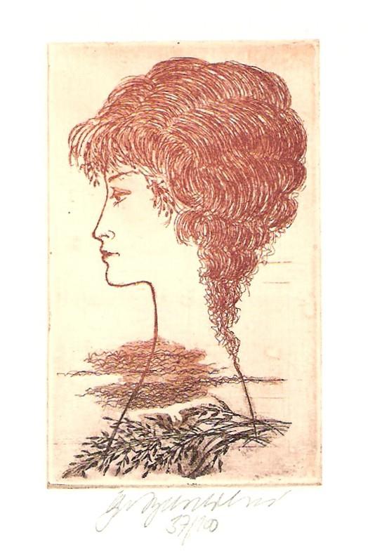Vychodilová Olga - Dívčí profil - Grafika
