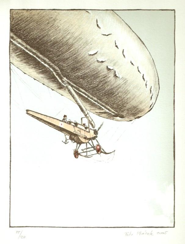 Ptáček Petr - Řiditelný balón - Grafika