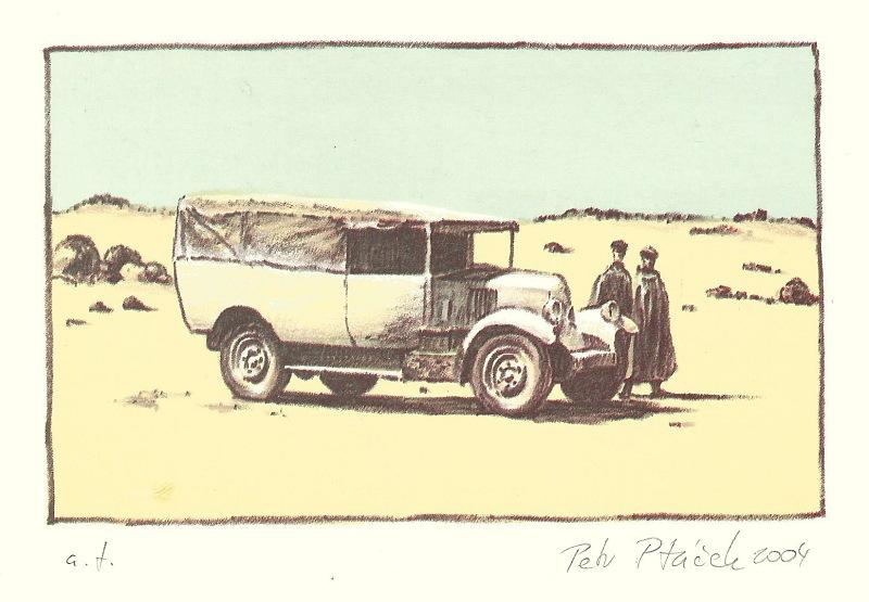 Ptáček Petr - Pouštní pošta - Grafika