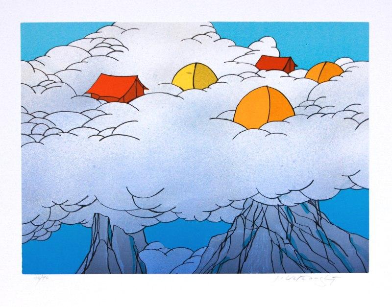 Velčovský Josef - High in the Clouds - Print