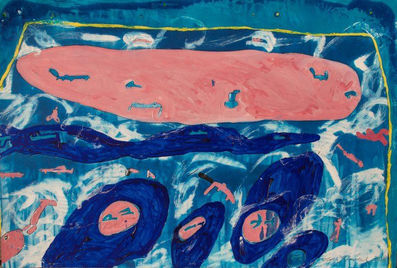 Tománek Zdeněk - Pigs on the Horizon - Painting