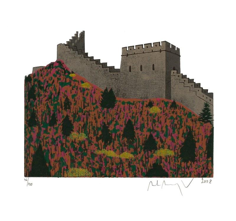 Manojlín Martin - Velká čínská zeď I  - Grafika
