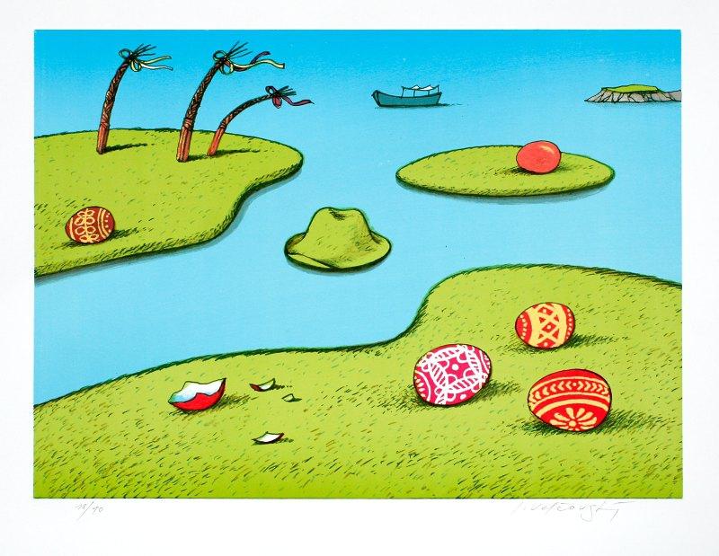 Velčovský Josef - Velikonoční ostrovy - Grafika