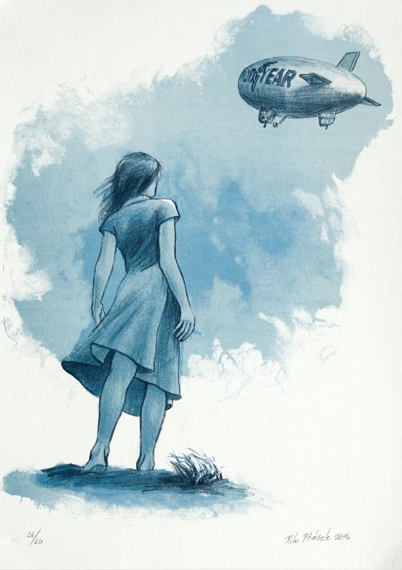 Ptáček Petr - Ve větru - Grafika