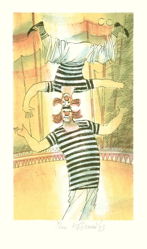 Beneš Karel - Dva klauni - Grafika