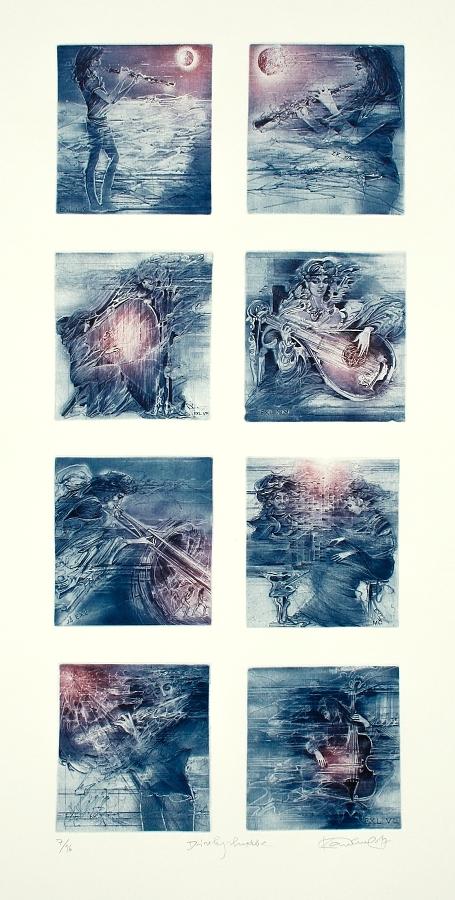 Demel Karel - Dívky – hudba  - Grafika