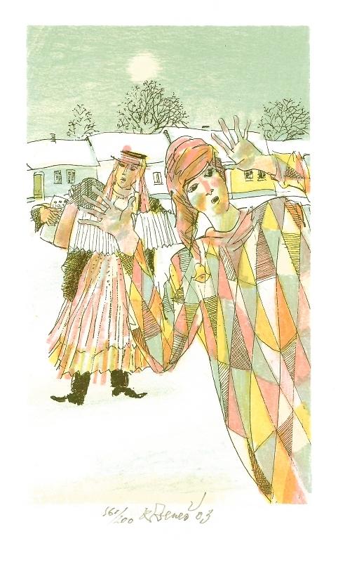 Beneš Karel - Masopust - Grafika