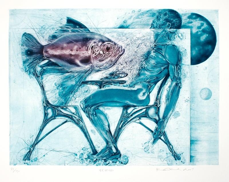 Demel Karel - Akvarium - Grafika