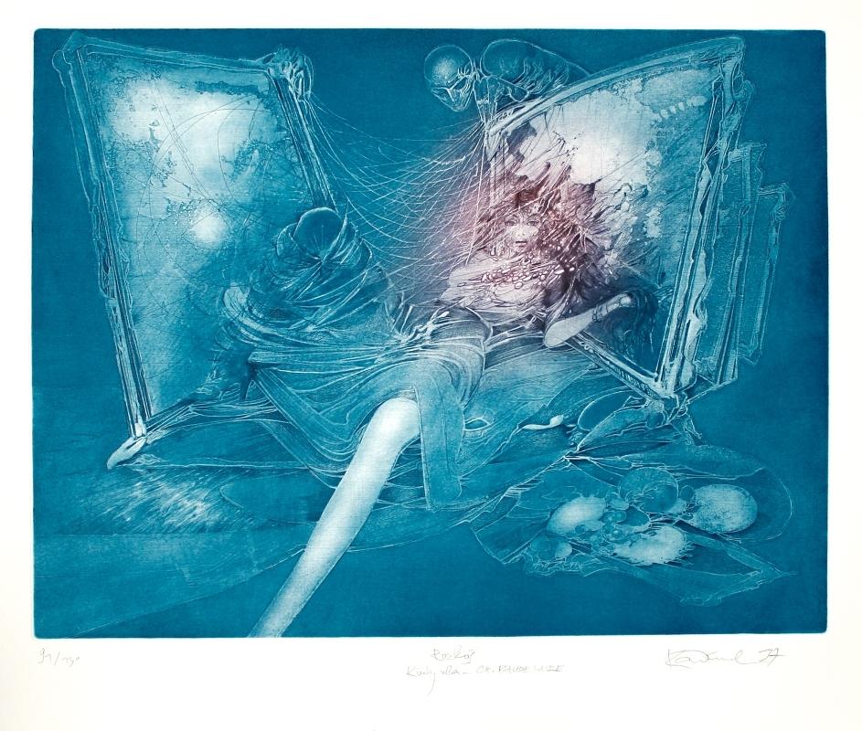 Demel Karel - Rozkoš (Květy zla – Ch. Baudelaire)  - Grafika
