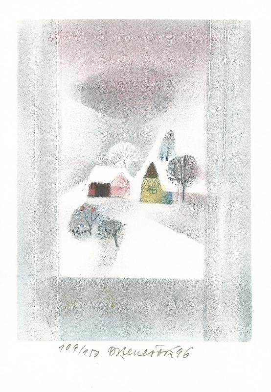 Benešová Daniela - Zimní okno  - Grafika