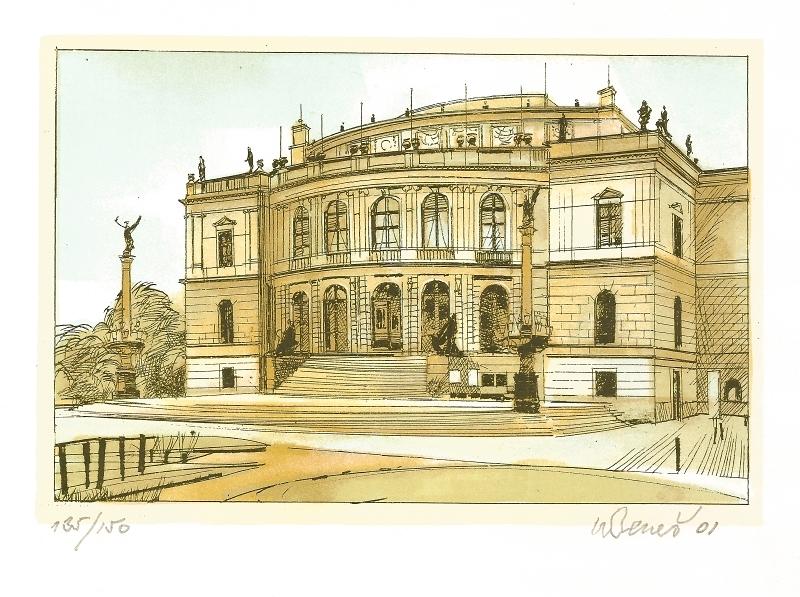 Beneš Karel - Praha – Rudolfinum  - Grafika
