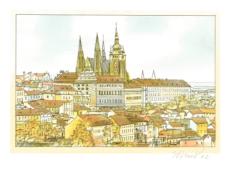 Beneš Karel - Pražský hrad  - Grafika