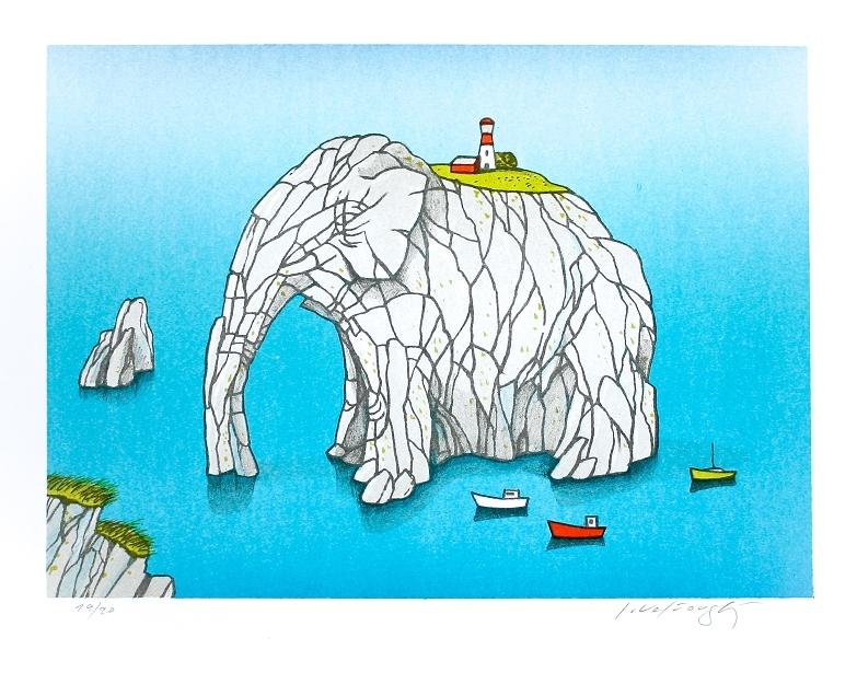 Velčovský Josef - Maják s elefantastickým výhledem  - Grafika