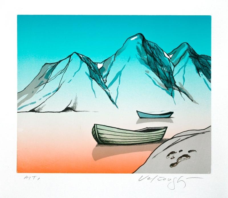 Velčovský Josef - Jezero, do kterého zapadlo sluníčko  - Grafika
