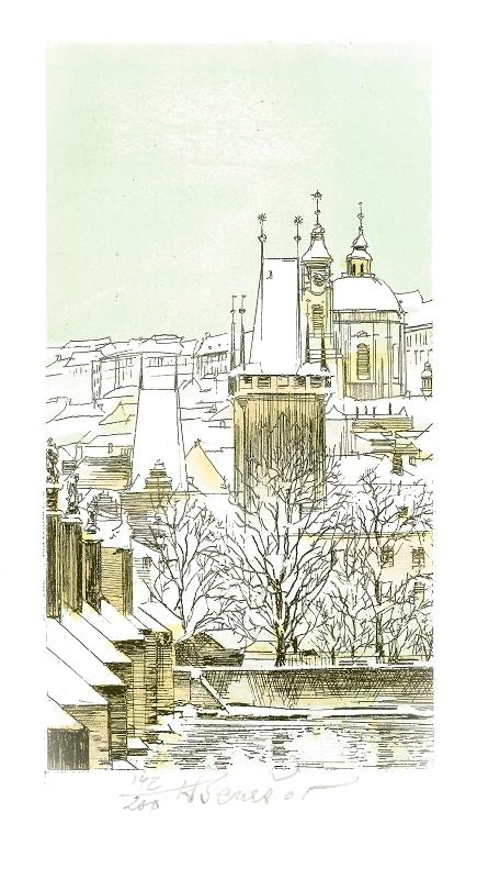 Beneš Karel - Praha – Malostranské věže  - Grafika