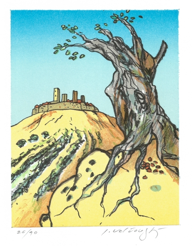 Velčovský Josef - San Gimignano  - Print